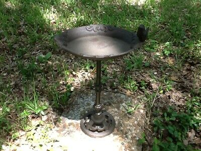 Oval Bird Bath with Bird Cast Iron