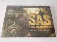 Brand New sealed The History Channel SAS And the Green Gerets 4 DVDS Limited Edition set