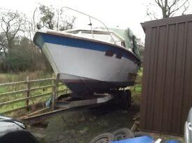 Diesel boat bowrider