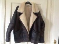 Milan flying jacket Brown leather and sheepskin lining ladies size 16