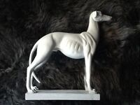 Dog ornament in light grey colour. £10 In perfect condition