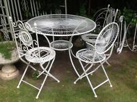 Vintage wrought iron garden furniture