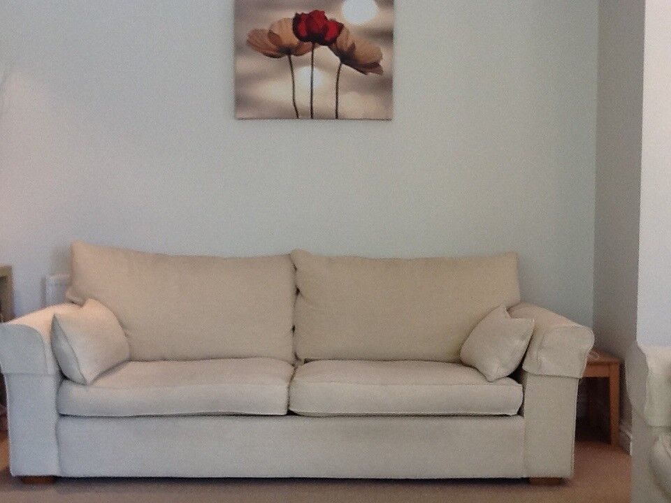 Large Comfortable Sofa Good Quality Neutral Colour Just Reduced As Must Go