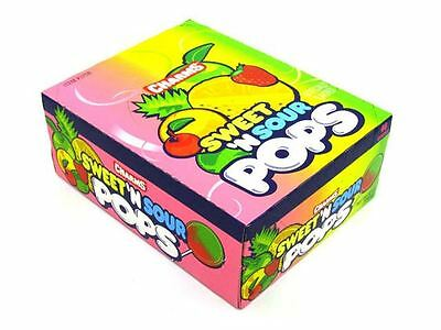 Charms Sweet - Sour Pops Assorted [case] 48 Ct (pack Of 4)