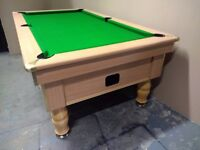 7x4 Ex-Pub Slate Bed Pool Table - New Recover & Accessories - Free Local Delivery