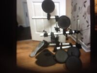 Yahama TP65 drum pads x5 cymbals x2 pro foot pedal and stand