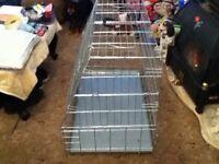 SLOPING DOG CAGE CRATE LARGE WILL FIT HATCHBACK, ESTATE, 4 X 4 OR VAN