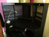 CORNER DESK BLACK FOR SALE