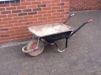 Heavy duty builders wheelbarrow