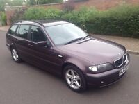 2003 52 Reg BMW 3 Series E46 316i 1.8 SE Touring, Estate, 5dr, Petrol, Metallic Purple, Manual