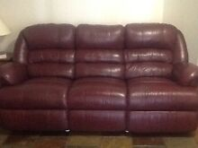 Leather lounge Eagle Vale Campbelltown Area Preview