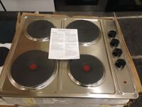 x5 stainless steel new world sterling electric hobs brand new