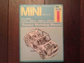 Mini Haynes workshop manual 69 to 81.