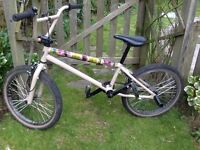 "Boys BMX 20 "" frame ABD brakes, stunt nuts excellent condition."