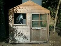 Wooden playhouse 5ft by 5ft