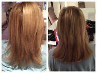 Hair Extensions, micro bonds, keratin bonded, easilocks etc.