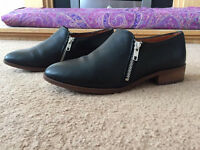 OFFICE real leather black shoes/boots. Size 6