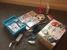 Nintendo Wii Package (original box) & lots of extras