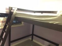 Large Double bed-loft bed-high sleeper
