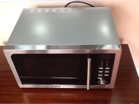 Large stainless steel DeLonghi microwave