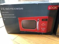 Brand new boxed red retro style microwave