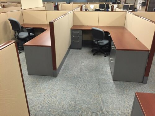 Used Office Cubicles, Haworth Premise 6x8 Cubicles