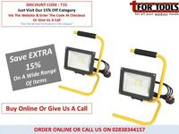 2 X DRAPER EXPERT 51371 230V 20W COB LED WORKLAMP PLASTERS LIGHTS
