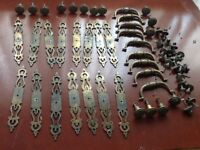 Antique style cupboard and drawer handles.