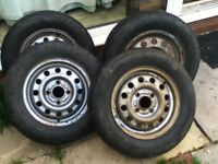 4 Ford Escort Van wheels with 175/70R13 tyres