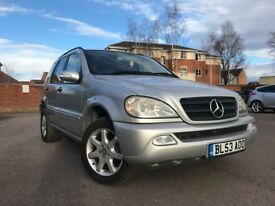 2003 (53) MERCEDES ML 270 CDI FACELIFT SILVER ***FSH***LOW MILES ONLY 124K* *FULL LEATHER HEATED*