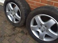 "17"" GENUINE VOLKSWAGEN T5 ALLOY WHEELS / TYRES"