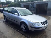 ** NEWTON CARS ** 03 VW PASSAT 2.0 S 20v ESTATE, GOOD OVERALL, FSH, MOT AUG 2017, P/EX POSS