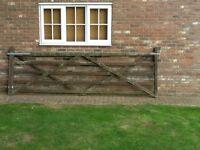 5 bar field gate.