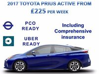 £225 PER WEEK BRAND NEW 17 REG PRIUS - PCO CARS FOR RENT/HIRE, UBER READY