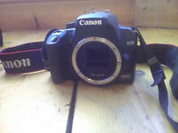 Cannon 1000D DSLR (working) and Tamron Macro Lens (Spares/Repair) with memory card, bag and chargers