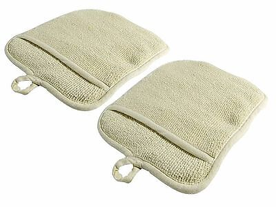 Usa Seller 2 Beige Terry Cloth Pot Holders Free Shipping Us Only