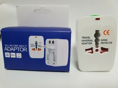 Universal Travel Adapter Wall Socket Electrical Multi Plugs Adapter + Tracking
