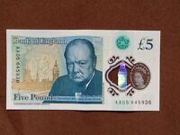 AA05 Plastic £5.00 note