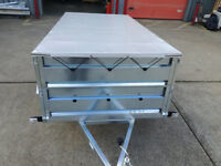 NEW TWIN AXLE TRAILER CAMPING TRAILER 8,6 FT X 4,4 FT - 750kg UNBRAKED