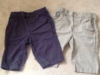 2 pairs boys used next brand shorts size 8 years