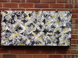 "LARGE Original Hand. Painted canvas""Paragon"" 100x50cm"