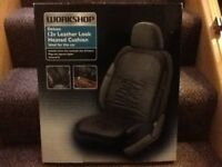 Deluxe Leather Look Car Heated Seat Cushion