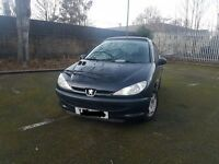 Peugeot 206 CHEAP CAR LOW MILEAGE not Ford Golf Vauxhall Toyota Honda