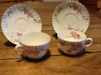 Old pair of cups and saucers