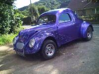 vw beetle wizard coupe tax exempt 1963 custom paint job