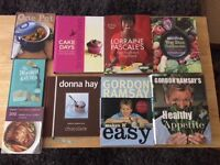 Selection of cookery books for sale