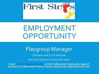CHILCARE MANAGER PRE-SCHOOL P/T 20HRS PER WEEK