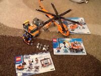 Lego arctic helicopter and ice crawler
