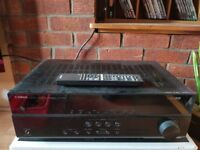YAMAHA HTR2067 Surround sound amp and speaker package