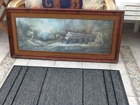 Two large pictures ex cond £7 each 07985234600